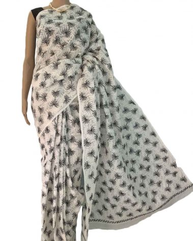 Cotton Chikankari Sarees