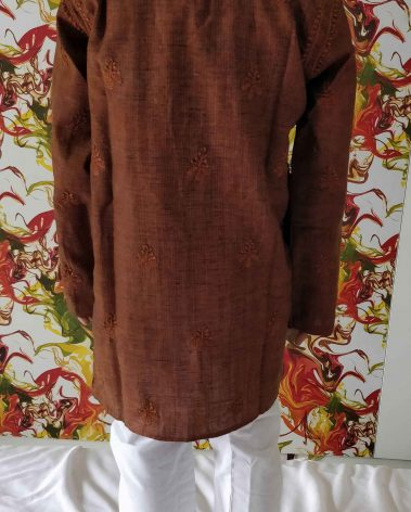 Back image of lucknowi chiknakari kurta