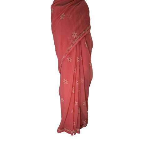 Image of Chikankari saree peats