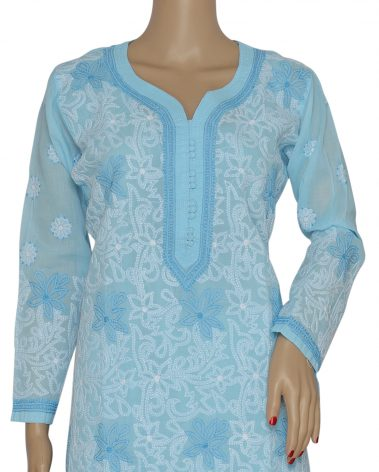 Close up Image of Chikankari Kurti
