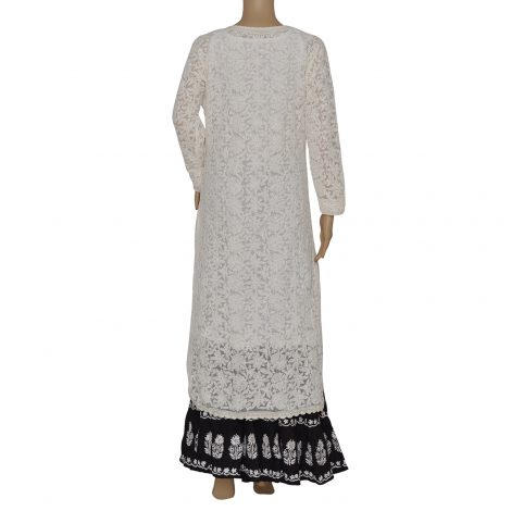 back image of Chikankari kurta