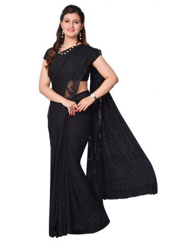 image of chikankari georgette saree palou