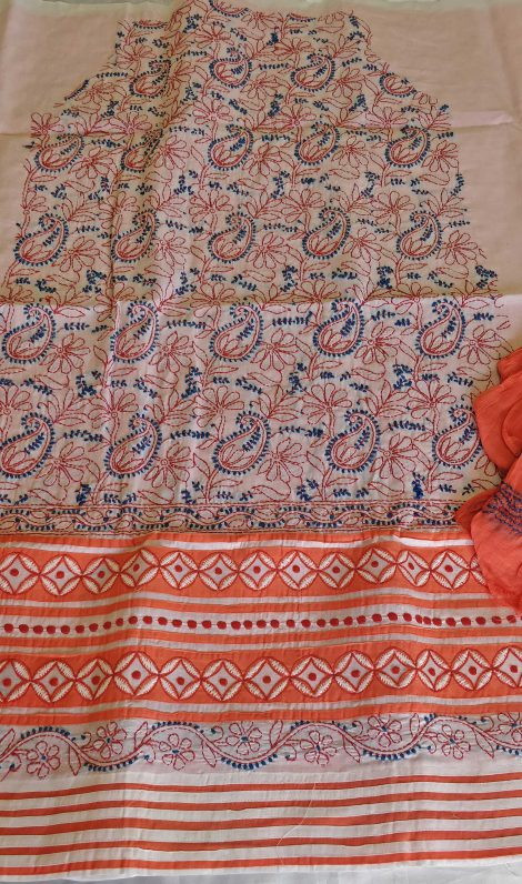 Front image of Chikankari cotton dress material